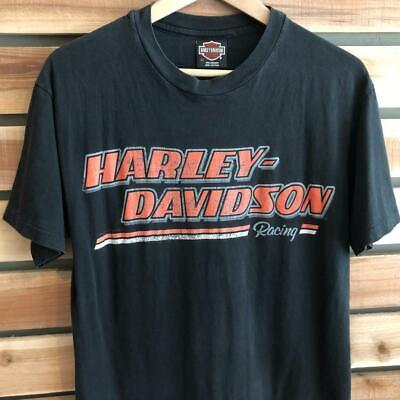 Rare VTG 80s/90s Harley-Davidson Racing Toronto Canada SINGLE STITCH T Shirt M
