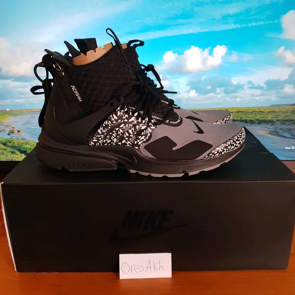 online store c9732 cab20 Nike Presto x Acronyms grey/black SIZE UK 6 to UK 9 | in Trafford,  Manchester | Gumtree