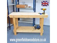 Wooden Workbench | Various Sizes Available | VERY STRONG & STURDY | Sheds, Workshops, Studios Etc..