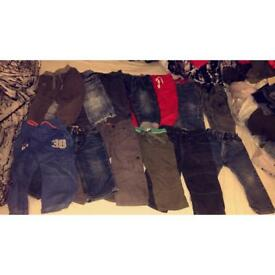 Boys trousers / jeans bundle size 12-18 months