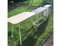 Three vintage tables. One sixties Formica dining, one country and one bedside. Can sell separately.