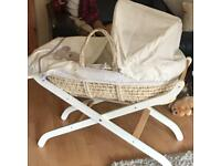 Mothercare Teddys Toybox Moses Basket and stand