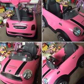 Childrens PUSH ALONG Mini Cooper in Pink - £35