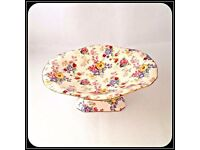"""Vintage 1952 Royal Winton """"Cotswold"""" Chintz Pattern Compote/Candy Dish £15 ONO"""