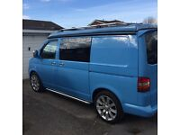 T5 vw campervan Danish blue