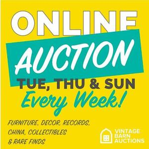 ONLINE AUCTION! ENDS TUESDAY! Video Games, Jewellery, Sports Collectibles, Vintage Decor AND SO MUCH MORE! $2 Bids!