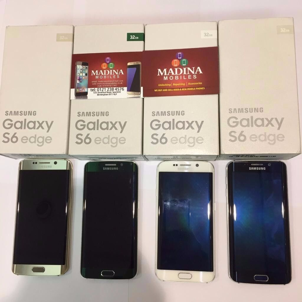 SAMSUNG GALAXY S6 EDGE 64GB UNLOCKED NEW CONDITION COMES WITH SAMSUNG WARRANTYACCESSORIESin Sparkhill, West MidlandsGumtree - SAMSUNG GALAXY S6 EDGE 64GB UNLOCKED NEW CONDITION COMES WITH SAMSUNG WARRANTY , ACCESSORIES FREE WITH THIS PURCHASE GLASS SCREEN PROTECTOR BUY FROM A MOBILE PHONE SHOP FOR PIECE OF MIND. ALL PURCHASES COME WITH SHOP RECEIPT Madina Mobiles 533...