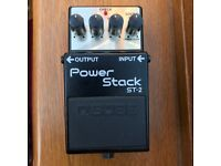 Boss ST2 Power Stack guitar effects pedal (Marshall-style distortion) used, VG condition.
