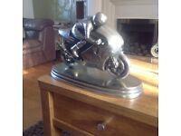 Large motorcycle pewter model