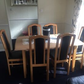 Sideboard and dining table and chairs