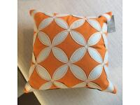 Brand New - Orange stitched Studio geometric patterned cushion by Next home