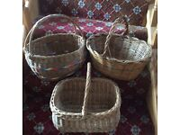 Vintage wicker shopping baskets