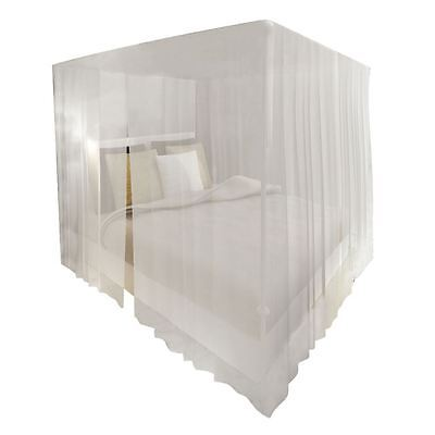 2pcs White Four Corner Canopy Bed Netting Mosquito Net King