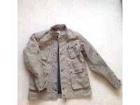 Biker jacket and leather biker gloves