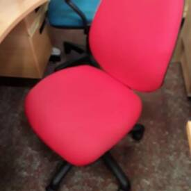 Large selection of armless operator chairs