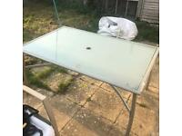 STILL AVAILABLE -GARDEN TABLE & 4 CHAIRS