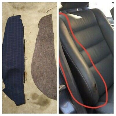 Mercedes W124 seat cover bolster REPAIR SET cloth BLUE 89-92 corner RHD right for sale  Shipping to Ireland