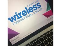 Wireless ticket Sunday 8th July 2018