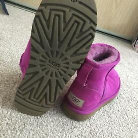 Women's Pink Uggs - UK 4.5