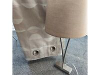 Pair of Next curtains and 2 matching table lamps