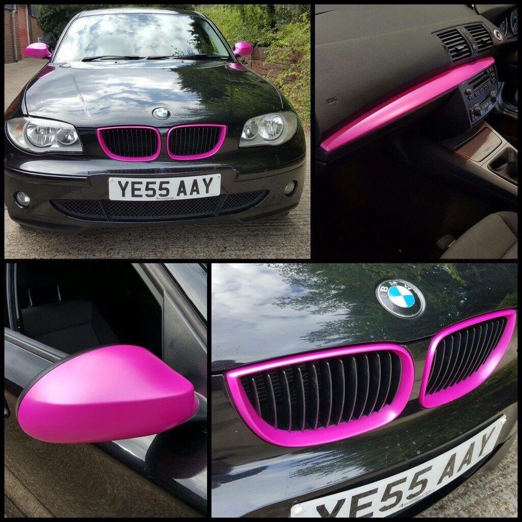 Black Pink BMW 1-Series 118d 1yr Mot Fsh 5 Door Car For