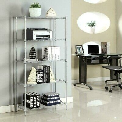 5 Tier 72x36x14 Wire Rack Metal Shelf High Quality Unit Garage Kitchen Storage
