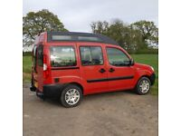 Newly Converted Fiat Doblo High Top Campervan 2 berth Low mileage 46,5K New MOT