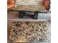 pure marble table