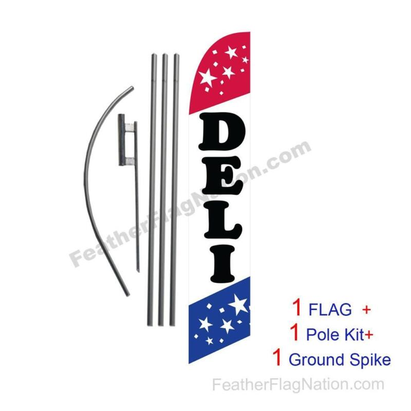 DELI Feather Banner Swooper Flag Kit with pole+spike