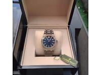 new full package mens blue face silver casing silver bracelet AP Audemars Piguet royal oak watch w