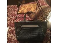 Black crock handbag like new