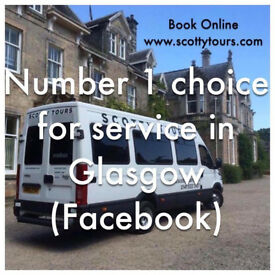 No 1 for service in Glasgow - Minibus Hire With Driver 8 & 16 Passenger Seats - Spacious Minicoaches