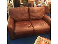 2 Ex display john lewis Hampstead leather sofa rrp £1100 each