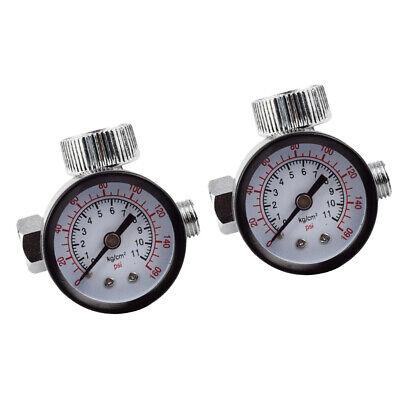 2pcs 14 Spray Gun Air Regulator With Pressure Gauge Valve Pressure Switch