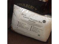 Set of 6 Harrods Luxury Mulberry Silk Pillows