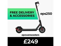 ELECTRIC SCOOTER - EPOWERSCOOTERS - EPS250 - £249 + FREE ACCESSORIES WORTH £55 - BETTER THAN M365