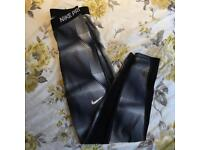 Nike pro grey patterned tights size M