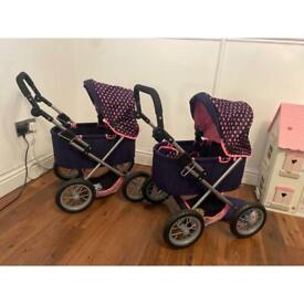 Baby doll push chairs