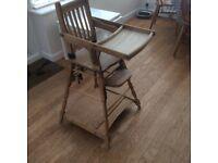 Vintage high chair.