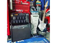 Guitar amp/pedals.