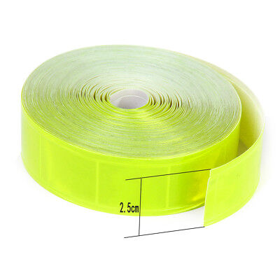 10m Scotchlite Gloss Sew On Reflective Tape 1 Wide Safety Fluorescent Yellow
