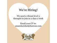 Level 3 Beauty Therapist Needed
