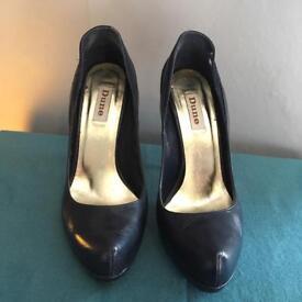 Dune Navy Blue Court Shoes - Size 6