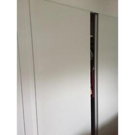 METAL AND POLYCOTTON DOUBLE WARDROBE BRAND NEW NEVER USED  ASSEMBLY