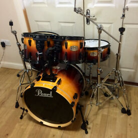 Fully Refurbished Pearl ELX Drum Kit - Amber Fade