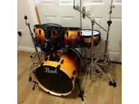 Fully Refurbished Pearl ELX Drum Kit - Amber Fade