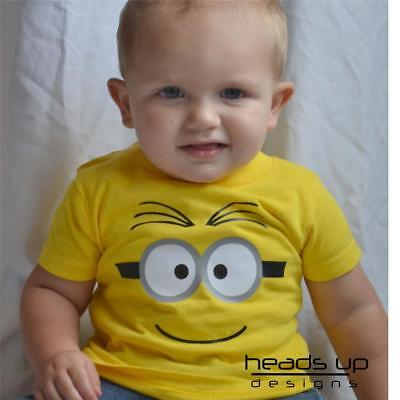 Minion Shirt 2 Eyes Newborn Infant Baby Toddler Kid Boy Girl Adult Despicable - Adult Minion Shirt