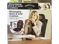 Massaging Back and Seat Cushion (perfect for home, office or car)