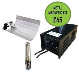 10 x Metal Magnetic Ballast Light Kit 600w HPS Bulb and Reflector