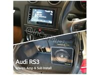 CAR AUDIO FIT RADIO STEREO SUBWOOFERS subs AMPLIFIER amps SPEAKERS BLUETOOTH sat nav